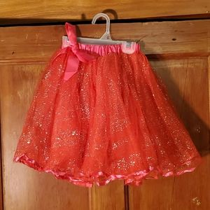 NEW Sparkly Red Puffy Skirt Size 5